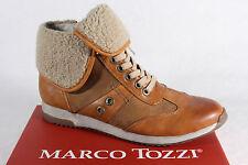 Marco tozzi stivali stivaletti marrone, caldo rivestimento interno lampo in pelle NUOVO!!!