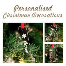 Personalised Christmas Letter Decorations Keepsake Names Family !!