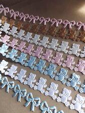 Oso De Peluche Trim Cinta Craft tarjeta favorece Baby Shower Bautizo Recién Nacido Craft