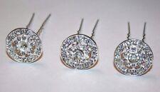 Wedding Hairpins, Hair pins with Rhinestone, Silver or Gold hair pins (3 pc)