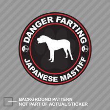 Danger Farting Japanese Mastiff Sticker Decal Vinyl dog canine pet