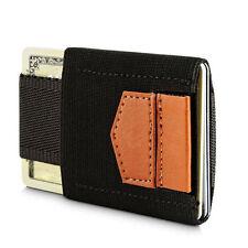 Mens Minimalist Wallet: Money Clip Coin Front Pocket Slim Credit Card Holder ID