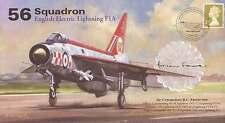 AV600 56 Squadron Lightning Firebirds RAF cover signed FARRER OC 56 Sqn