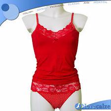 Coordinato donna Natale capodanno cotone elasticizzato completo rosso  DSCOO001