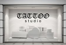TATTOO Studio Window Sticker Display Sign Vinyl Decal Graphic