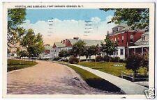 Postcard Fort Ontario Hospital Oswego New York 1935