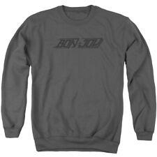 Bon Jovi New Logo Mens Crew Neck Sweatshirt Charcoal