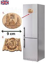 Islamic Wood Art of Allah Muhammad  FRIDGE DOOR Decorations  9x7cm/8x6cm New
