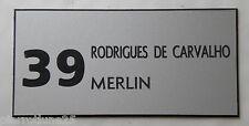 plaque gravée boite lettres porte personnalisée 2/4 lignes  + N° FT 48 x 100 mm