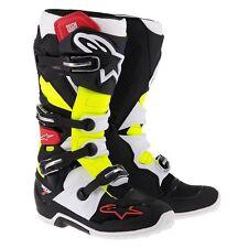AlpineStars Boots Tech 7 Black/Red/Yellow Riding Motocross Racing ATV Men