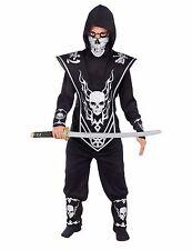 Skull Lord Ninja Fighter Warrior Child Costume, Black/Silver