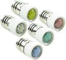 12mm E12 LED Lamp Screw Base Indicator Bulb 24V 110V Blue Green Red Yellow White