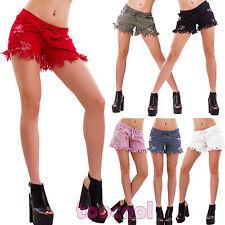 Pantaloncini donna shorts strappati sfrangiati hotpants sexy nuovi AS-2231