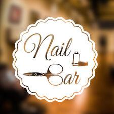 Nail Bar ADHESIVO PARED SALÓN DE BELLEZA Arte Cabello Gráfico Peluquero VINILO
