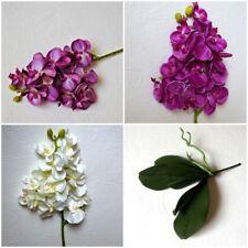 Mini Orchidee Blatt Phalaenopsis Künstliche Blumen Pflanze Kunstblume Dekor Lila