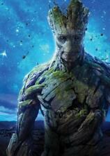 Groot Guardianes de la galaxia Movie Poster Película A4 A3 Art Print Cinema 2016