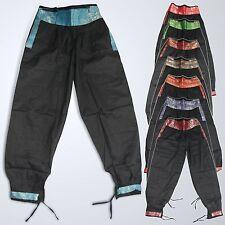 Pantaloni per TEMPO LIBERO COTONE NERO Harem Pants Lunghezza 100Cm SARI D