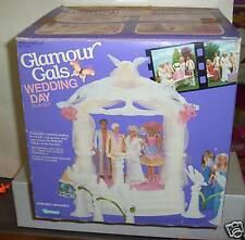 #4102 Nib Vintage Kenner Glamour Gals Wedding Day Playset with Alex the Groom