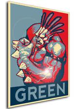 Poster - Propaganda - Pixel Art - Golden Axe The Duel - Green