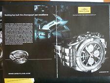 PUB MONTRE BREITLING WATCHES SUISSE CHRONOMAT B01 P-51 MUSTANG RENO RACES AD