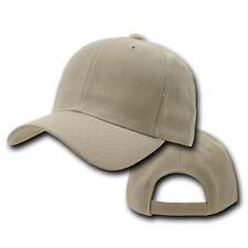 Khaki Plain Blank Solid Adjustable Golf Tennis Baseball Ball Cap Hat Caps Hats