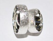 925 Silber Trauring Ehering Hochzeitsring - Preis für ein Ring - Eismatt - 7 mm