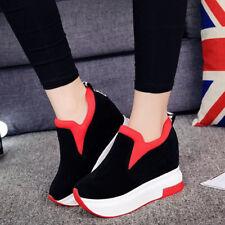 Plate-forme des femmes cachées Wedge talons hauts cheville Sneakers chaussures