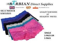 Multi Pack French Knickers G-string Thong Panties Lingerie Ladies Underwear