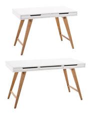 Schreibtisch PORTO weiß Bürotisch Eiche Sekretär Holz Tisch Computertisch NEU