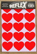 3M Scotchlite Reflective Reflex A5 Sticker Pack Hearts (Black Bike Child Safety)