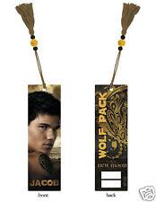 NEW MOON Twilight BOOKMARK Jacob Black Taylor Launter