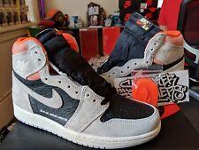 Nike Air Jordan Retro I 1 High OG Neutral Grey Black Crimson 555088-018 ce0a1592f