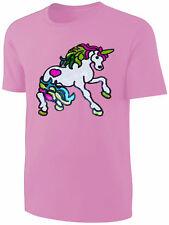 Mädchen T-Shirt Einhorn Pailletten Shirt Rosa