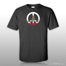California Flag Peace Symbol T-Shirt Tee Shirt Cotton Ca sign no war
