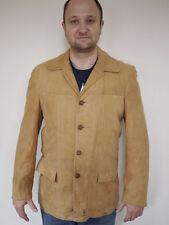 Vintage 1970s CRESCO Geunine Soft SUEDE Brown BLAZER Sport Coat MENS 40