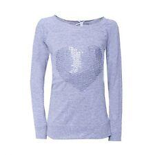 """%% LOUIS & LOUISA """" Herz """" Pailletten-Sweatshirt grau Gr.104 - 164 NEU %%"""