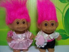"FLOWER GIRL AND RING BEARER - 3"" Russ Troll Dolls - NEW - Pink Hair"