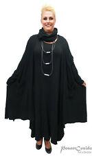 LAGENLOOK Long Shirt Jacke Kurz-Mantel schwarz XL-XXL-XXXL 46 48 50 52 54 56 58