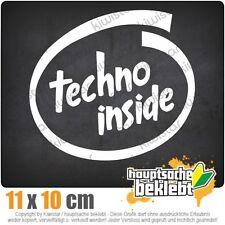 Techno inside csf0343 10 x 11 cm JDM  Sticker Aufkleber