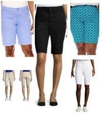 St. John's Bay Women's Shorts Bermuda 16W 18W 20W 22W 24W, New