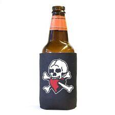 6 Lot Skull and Heart Pirate Beer Soda Pop Can Koozie Koolie Cooler Insulator