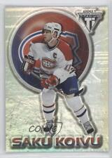 2000 Pacific Private Stock Titanium 47 Saku Koivu Montreal Canadiens Hockey Card