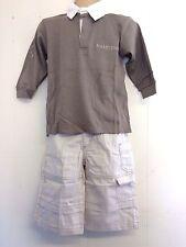 Precioso top estilo rugby Beige Camisa y Pantalones de Hamilton edad 3 o 4yrs-Nuevo con etiquetas!