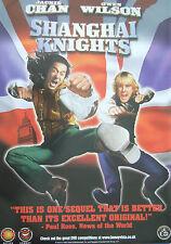 Jackie Chan Owen Wilson SHANGHAI KNIGHTS (2003)Original video release poster