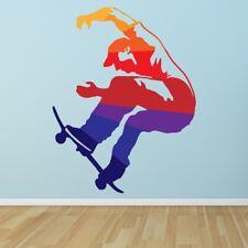 Rainbow Skater Skateboard Wall Decal Sticker WS-50612