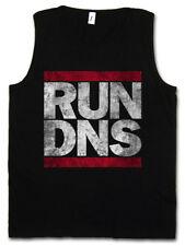 RUN DNS HERREN TANK TOP Domain Name System Run Fun DMC Server Gamer Admin PC IP