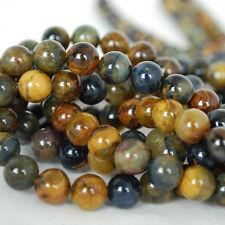 """Grado A Natural Golden Pietersite redonda con cuentas de piedras preciosas - 4, 6, 8mm - 16"""""""