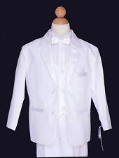 Boys Wedding, Ring Bear, Recital Tuxedo Suit Set, Regular White, Size 6,10