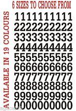 "Numeri 1/2 "" 1"" 2 "" 3"" 4 "" 6"" Vinile Adesivi Indoor Outdoor BARCA AUTO 19 COLORI!!!"