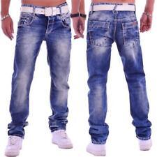 Cipo & Baxx C 1149 Herren Jeans Hose blau blue Denim dicke Nähte Pants Used Look